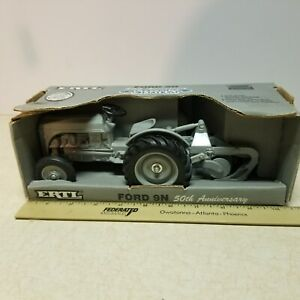 Toy Ertl Ford 9N Tractor with Dearborn Plow 1:16 50th anniversary Box