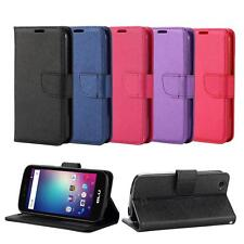 For BLU Neo X LTE N0010UU Leather Wallet Flip Card Slot Case Cover + Screenguard