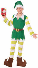 Kids Jingles The Elf Costume Santa's Helper Christmas Toyshop Worker Size Md