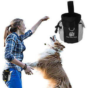 Pet Dogs Treat Bags Nylon Pocket for Snack Toys Waste Bags Holder Training Pouch