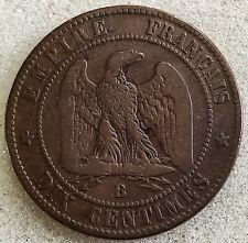 10 Cts 1856 Napoléon III Tete Nue B Rouen Second Empire