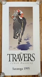 Greg Montgomery 1995 Travers Poster, Saratoga, Holy Bull