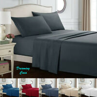 Hotel Luxury 1800 Count 4 Piece Bed Sheet Set Deep Pocket Bed Sheets Set J6