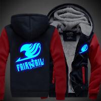 Fairy Tail Anime Luminous Hoodies Thicken Sweatshirt Jacket Coat Christmas #Ux27