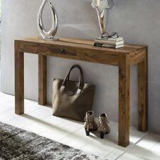 Konsolentisch Holz Massiv Sheesham Konsole Anrichte 1 Schublade Schreibtisch
