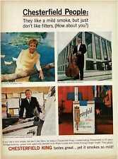 1964 CHESTERFIELD cigarettes People Foreman Parisot Evensen Vintage Print Ad