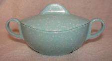 Vintage Turquoise Aqua Sugar Dish Speckled Mid Century Atomic