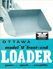 Equipment Brochure - Ottawa - U - Front End Loader for Tractor - c1959 (E5321)