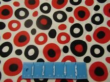 Celebrate Dr. Seuss 11966 Red Black Dots Robert Kaufman FLANNEL Fabric 1/2 YARD