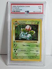 PSA 7 NM 1999 Pokemon Shadowless 1st Edition Ivysaur #30