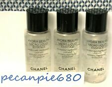 3 x CHANEL HYDRA BEAUTY MICRO LIQUID ESSENCE Hydration 10 ml / .34 oz x 3 travel