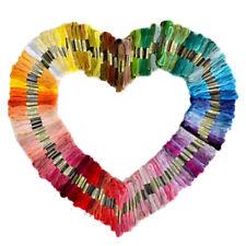 50 Colores Aleatorio Punto de Cruz Madejas de Hilo para Tejer Bordado Multicolor