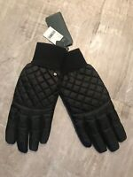 LAUREN RALPH LAUREN BLACK QUILTED TOUCH GLOVES GLOVES BLACK Large 💫NWT 💫