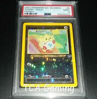 PSA 9 MINT Togepi 4/18 Southern Islands REVERSE HOLO Pokemon Card