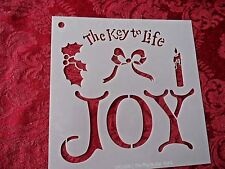 "New Stencil - The Key To Life Joy Stencil 6"" X 6"""