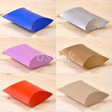 20 - 200pcs Cute Candy Boxes Pillow Gift Box Wedding Party Favor Kraft Paper