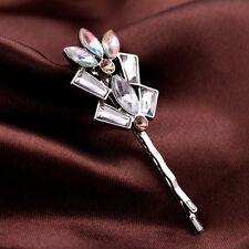 Pique Epingle à Cheveux Argenté Art Deco Fleur Baroque Ancien Vintage Original