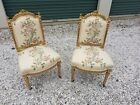 Pair Of Vintage French Needlepoint Chairs