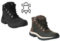 Mens Leather Warm Lined Lace Up Snow Winter Padded Casual Ankle New Combat Boots