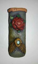 Cigarette Lighter Holder Sleeve Case Folk Art Turtle Clay Hand-Crafted Design