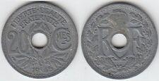 Gertbrolen 20 Centimes Type en Zinc  1945