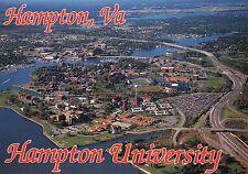 Aerial View of Hampton University Campus, Virginia, School, Roads etc - Postcard