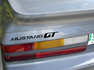 1985 & 1986 MUSTANG GT BLACK HATCH DECAL REPRODUCTION