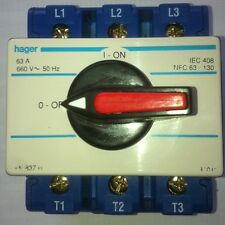 Hager 63Amp Main Switch Rotary Handle Lockable 3 Phase
