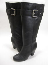 FOSSIL WOMEN'S REBECCA KNEE-HIGH HIGH-HEEL BOOT BLACK LEATHER/RUBBER SIZE 5 MED