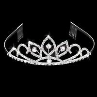 Crystal Rhinestone Crown Tiara Comb for Wedding Bridal Pageant Prom Headband