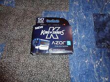 Remington King of Shaves Azor 5 Men's Shaver Razor Replacement Cartridges 6 Pack