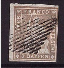 Schweiz, HELVETIA, Mi-Nr. 13 II Azm, gestempelt, geprüft (20709)