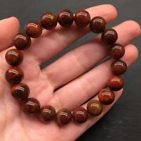 C&D Natural Zhanguo Warring States Golden Red Agate Bead Bracelet 9-11mm 9010#