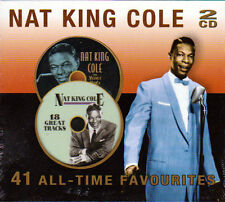 NAT KING COLE -  VELVET VOICE / UNFORGETTABLE - 41 ALL-TIME FAVOURITES (NEW 2CD)