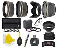 58mm Deluxe Kit (Wide-Tele-Fisheye Lens+) For Canon EOS Rebel SL2 T7i 800D 200D