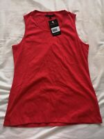 Jack Russell Women's Red Tank Vest Top Size 14 New With Tags
