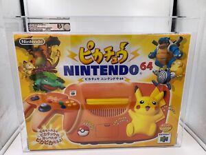 Nintendo N64 Console Pokemon Pikachu NTSC-J Orange New VGA Graded 85 NM+
