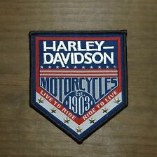 Harley Davidson Genuine Patch  - Woven with Brass Stars - Medium Emblem Badge
