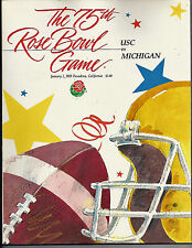 1989 Michigan USC Rose Bowl football program Bo Schembechler's last bowl win