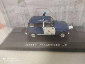 Renault R4-Policia Municipal 1981 1/43 Vehículos de Reparto y Servicio