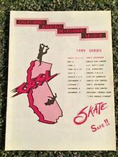 California Amateur Skateboard League Casl 1989 Series schedule & rules Oop Rare
