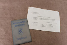 Original Cold War Era 1972 d. Duch Militray ID Booklet, Named w/Helmet Document