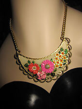 BETSEY JOHNSON A GARDEN PARTY FLOWERS BIB NECKLACE