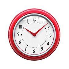 Premier Housewares Traditional Retro Wall Clock - Red
