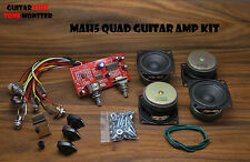 "TONE MONSTER MAH5 Guitar Amp QUAD KIT 5W Overdrive MP3 HDPH (4) 2"" Speakers"