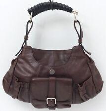 YSL YVES SAINT LAURENT Mala Mala Horn Handle Brown Leather Hnadbag Bag
