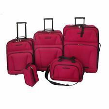 5 pieza juego de maleta blanda equipaje viaje bolsa valija Trolley impermeable