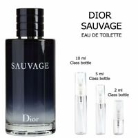 Dior Sauvage sample EDT Cologne  2ml 5ml 10ml Decant Travel Spray 100% Authentic