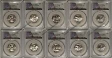 2018 P & D National Park 10 Coin Quarter Set 25c PCGS MS66 USA Flag