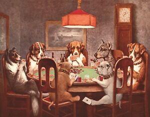 New Desperate Enterprises 7 Dogs Playing Poker Tin Sign